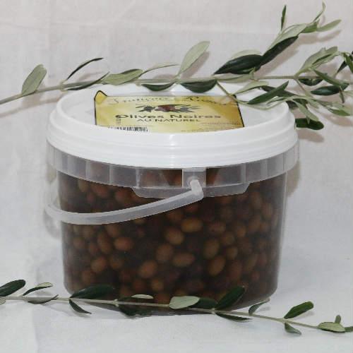 Olives noires au naturel en seau- 2.5 KG