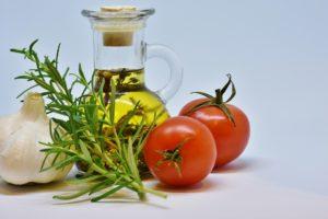 huile d'olive française romarin tomates